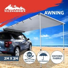 Weisshorn 2MX3M Car Side Awning Roof Rack Tent Shade Camping 4X4 4WD Cover Grey
