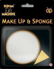 HALLOWEEN White MAKE UP & SPONGE Vampire Zombie Face Paint Kit