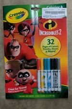 crayola 32 pages coloring and activity pad Incredibles 2 games, puzzles, more