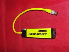 "BANNER MICRO-SCREEN Light Curtain 4"" M/N: USR424YP2 Min Object Sens: 0.75 19mm"