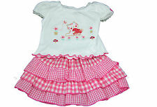 Cotton Blend Checked Outfits & Sets (0-24 Months) for Girls