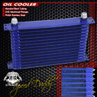 14-row 10an Full Aluminum Enginetransmission Cooling Racing Oil Cooler Kit Blue