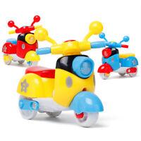 Cute Plastic Inertia Mini Motorcycle Toy Pull Back Diecast  Model For ChildreGJ
