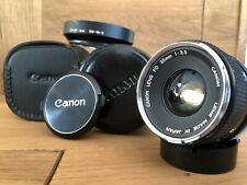 *Exc+3* Canon FD 35mm F3.5 MF Lens w/ Hood & Cases From Japan