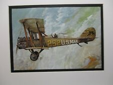 De Havilland DH 4b   Model Airplane Box Top Art Color  artist older aircraft