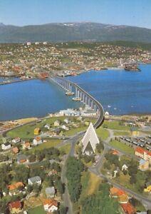 """Norge, Tromsö, Del av byen med """"Ishaskatedralen"""" ngl G1335"""