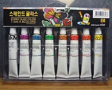 Stained Glass Tubes Paint 8 colors Package / Tube Painting Kit 7.5ml A_r