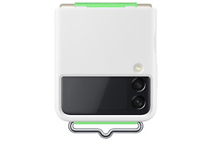 Samsung Galaxy Z Flip3 White Silicone Cover with Strap