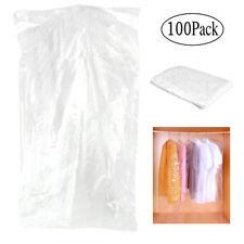 Pack of 100 Garment Bag Transparent PP plastic Suit Bag Clothing Dust Cover