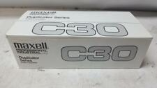 NEW Maxell C30 Professional Industrial Duplicator Series Audio Cassette 20 Pack