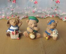 3 Balmoral bear figurines,' Strawberry Tea', 'Sticky Paws' & 'Sewing B'