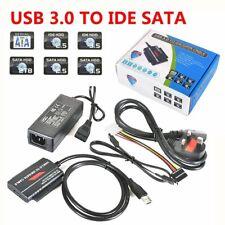 USB 3.0 to IDE SATA S-ATA 2.5 3.5 HD HDD Hard Drive Adapter Converter Cable HQ