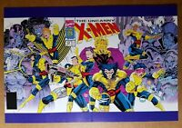 Uncanny X-Men Storm Wolverine Gambit Cable Psylocke Marvel Comics Poster Jim Lee