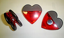 "3  ""HEART"" CLIP REFRIGERATOR MAGNETS"
