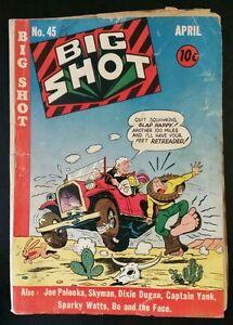 BIG SHOT #45 (1944 COLUMBIA Comics Corp) ~ GD Comic Book (Joe Palooka, Skyman)