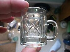 NEAT ADVERTISING MINIATURE CANDY MUG? PURE PACK CROSSED P'S EMBOSSED HANDLED