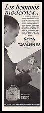 Publicité Montre CYMA  TAVANNES Watch photo vintage  ad  1930 -1i