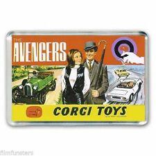 TV NOSTALGIA CORGI TOYS ARTWORK- THE AVENGERS -JOHN STEED JUMBO FRIDGE MAGNET