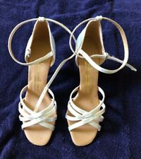 International Latin/ballroom dance shoes size UK 4 white satin sandal