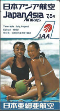 Japan Asia Airways system timetable 7/1/80 [7072]