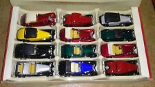 12 Motorized Old Timer Classic Cars 1:32 Die-cast Nib. Extremely Rare!