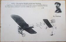 1910 French Aviation Postcard: Monoplan/Airplane Bleriot, Aviator M. Kuhling