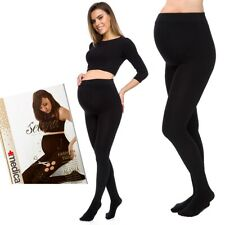 Womens Maternity Tights Stripeless Thick 1200 D Stretchy Safe Stockings SE792