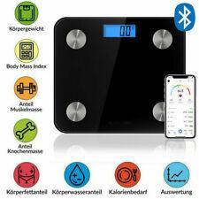 180kg Bluetooth Personenwage APP Körperwaage Fitnesswaage Gewicht BMI Analyse DE