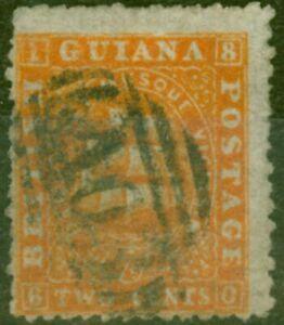 British Guiana 1862 2c Orange SG43 P.12 Good Used