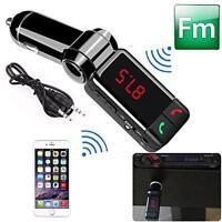 Car Kit MP3 Music Player Wireless Bluetooth FM Transmitter With 2 USB Port MT