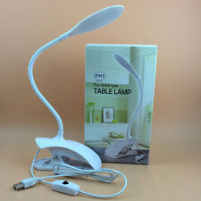 USB Flexible Reading LED Light Clip-on Beside Bed Table Desk Lamp Book Light