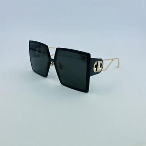 New CHRISTIAN DIOR 30 MONTAIGNE Black Gold Square Sunglasses Eyewear 30MONTAIGNE