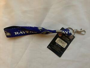 "Baltimore Ravens NFL 1"" Key Strap Lanyard Keystrap w/ Clip - NEW"