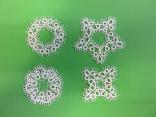Shuttle Tatted SNOWFLAKES Set of 4 Tatting Christmas Snowflake