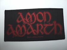 AMON  AMARTH   RED LOGO WOVEN  PATCH