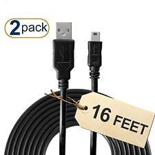 PS3 Controller Charger Cable (2-Pack) 16 Feet Long 60% Thicker