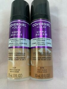 COVERGIRL+OLAY SIMPLY AGELESS LIQUID FOUNDATION *YOU CHOOSE* COMBINED SHIPPING~