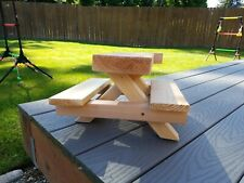 Squirrel picnic table Feeder 15L, 12W, 9H, 5.8lbs Handmade