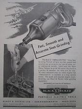 8/1946 ad black & decker portable electric tool valve grinding equipment ad