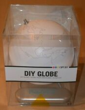 Devine Do-It-Yourself Diy World Globe w/ Metal Base - Color Your Own Globe New!