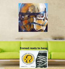 "16"" Framed star wars stormtrooper ART CANVAS PRINT balder andy baker  australia"