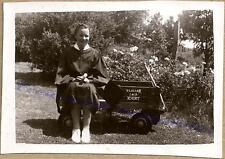1943 Teen Girl High School Graduate Gown & Bradley 4-In-1 Truck Wagon Cart Photo