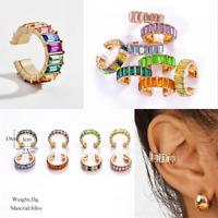 Fashion Crystal Rhinestone Clip Ear Cuff Women Wrap Cartilage Earrings Jewelry #