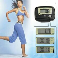 Black Digital Lcd Display Pedometer Steps Walking Distance Calorie Counter