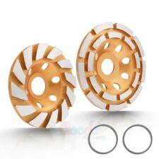 4 12 Diamond Cup Grinding Wheels Turbo Double Row Concrete Angle Grinder 18seg