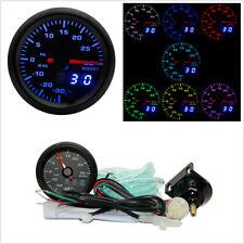 """2"""" 7 Colors LED Car Turbo Boost Gauge PSI Meter Analog/Digital Display Car Meter"""