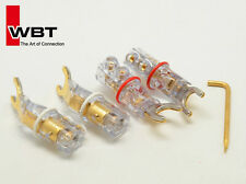 4 x WBT-0681 Cu Schachtel nextgen Sandwich Spade Plug Connector Speaker Cable