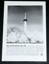 1951 OLD MAGAZINE PRINT AD, BELL TELEPHONE, ANTI-AIRCRAFT MISSLE CONTROL SYSTEM!