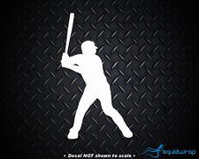 "Baseball Player Batter Car Decal Window Laptop Sticker - WHITE 6"""