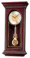 *BRAND NEW* Seiko Mahogany Wall Clock with Pendulum and Chime QXH008BLH
